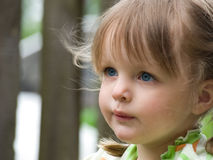 Pretty girl looks away royalty free stock image