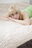 Pretty Girl In Lying In Bed Stock Photos