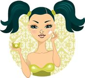 Pretty girl with make up in vector Stock Photo