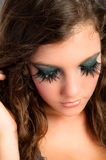 Pretty girl with makeup Royalty Free Stock Photo