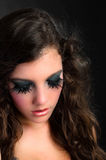 Pretty girl with makeup Royalty Free Stock Images
