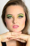 Pretty girl with makeup Stock Photos