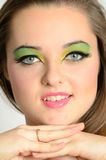 Pretty girl with makeup Royalty Free Stock Image