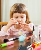 Pretty  girl making manicure Stock Photo
