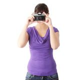 Pretty girl making photo Royalty Free Stock Photography