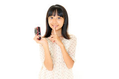 Pretty Girl Making Photo Stock Photography