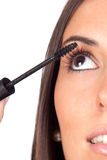 Pretty girl with mascara makeup Stock Image