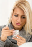 Pretty Girl With Medicines Stock Image
