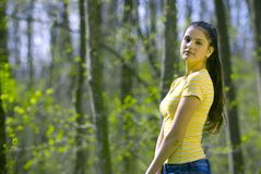 Free Pretty Girl Modeling In Forest Royalty Free Stock Photos - 2506138