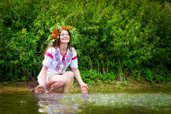 Pretty girl in national dress Royalty Free Stock Photo