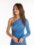 Pretty girl in night dress Stock Image