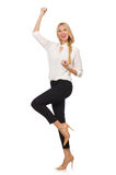 Pretty girl in office attire isolated on white Royalty Free Stock Photography