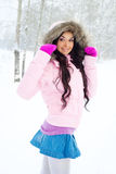 Pretty girl outdoor Royalty Free Stock Images