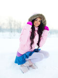 Pretty girl outdoor Stock Photography