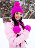 Pretty girl outdoor Royalty Free Stock Photo