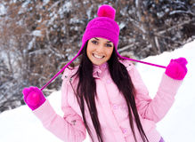 Pretty girl outdoor Stock Images