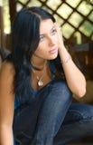 Pretty girl outdoor Royalty Free Stock Photos