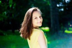 Pretty girl outdoor stock photos