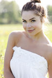 Pretty girl outdoors Royalty Free Stock Image