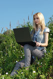 Pretty girl outdoors. Stock Image