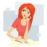 Pretty girl painting Royalty Free Stock Photo