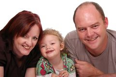 Pretty Girl and Parents royalty free stock photos