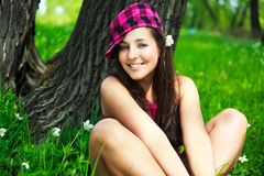 Pretty girl in the park Royalty Free Stock Photo
