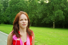Pretty girl in park Royalty Free Stock Photo