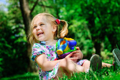 Pretty girl in the park Royalty Free Stock Images