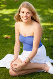 Pretty Girl in a Park Stock Photo