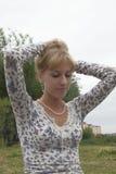 Pretty girl in park Stock Photos