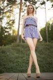 Pretty girl in park Stock Image