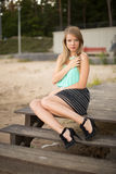 Pretty girl in park Royalty Free Stock Image