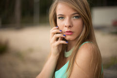 Pretty girl in park Royalty Free Stock Photography