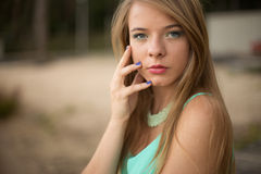 Pretty girl in park Royalty Free Stock Photos
