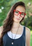 Pretty girl in park Stock Photo