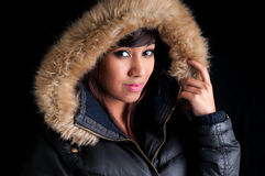 Pretty Girl in a Parka Royalty Free Stock Images
