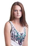 Pretty girl with perfect skin posing at camera Stock Photo