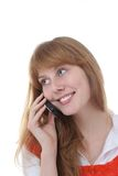 Pretty girl on the phone Royalty Free Stock Photography