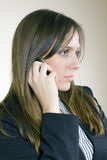 Pretty girl on the phone disapointed Royalty Free Stock Images