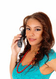 Pretty girl on the phone. Royalty Free Stock Photo
