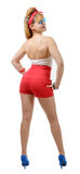 Pretty girl pin-up in shorts Stock Photo