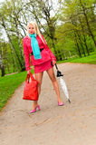 Pretty girl in pink Stock Photography