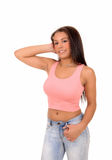 Pretty girl in pink top. Stock Image