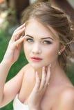 Pretty girl in a plaid shirt Stock Photo
