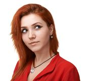 Pretty  girl that planning something Royalty Free Stock Photo