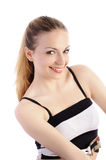 Pretty girl with pony tail smiling Royalty Free Stock Image