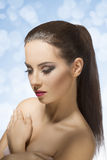 Pretty girl with ponytail Royalty Free Stock Image