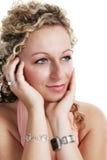 Pretty girl portrait stock photos