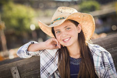 Pretty Girl Portrait At The Pumpkin Patch Royalty Free Stock Image